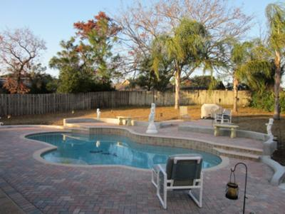 Large open pool deck