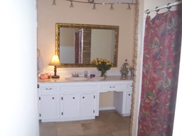 staged bathroom after